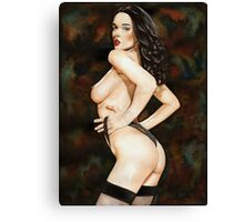 Black-haired Beauty - Night theme Canvas Print