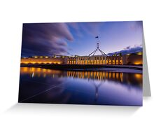 Australian Parliament Landscape Greeting Card
