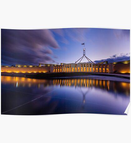 Australian Parliament Landscape Poster