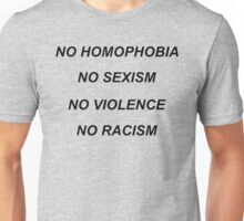 No homophobia Unisex T-Shirt