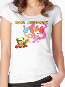 Pac Attack 2.0 Women's Fitted Scoop T-Shirt