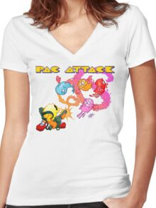 Pac Attack 2.0 Women's Fitted V-Neck T-Shirt