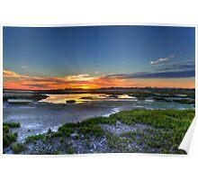 Rio Formosa Sunset Poster