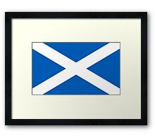 Flag of Scotland - High quality authentic version Framed Print