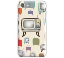 vintage television pattern iPhone Case/Skin