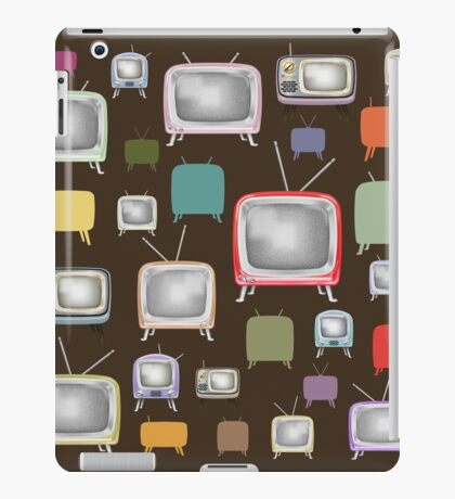 vintage television pattern iPad Case/Skin