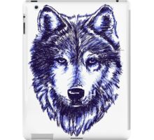 Timber Wolf - Blue iPad Case/Skin