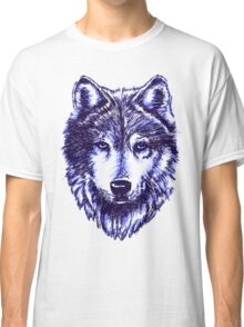 Timber Wolf - Blue Classic T-Shirt