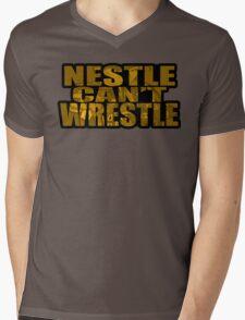 Nestle Can't Wrestle Mens V-Neck T-Shirt