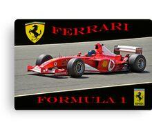 Ferrari Formula 1 Competition  Canvas Print