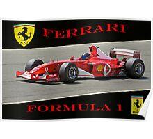Ferrari Formula 1 Competition  Poster