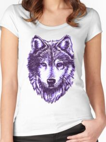 Timber Wolf-Purple Women's Fitted Scoop T-Shirt