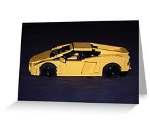 Lego Lamborghini 02 Greeting Card
