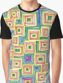 Rainbow Squares Graphic T-Shirt