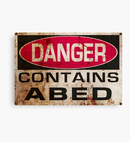 DANGER! Contains nerd Canvas Print