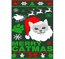 Merry Catmas Santa Ugly Christmas Photographic Print