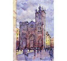 Cattedrale di Genova - schizzo di studio a colori Photographic Print