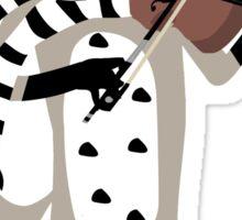foxy violinist winter Sticker
