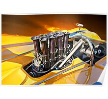 1971 McLaren M8E Fuel Injection System Poster