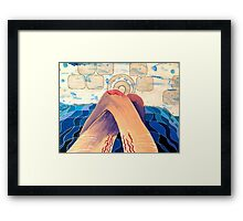 I read you in the bath, I read 'til the water was icy Framed Print