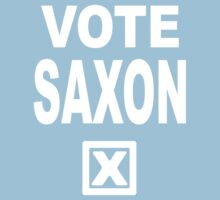 Vote Saxon [White Lettering] Kids Clothes