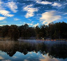 """Wonder-fall"" Beavers Bend Morning by Carolyn  Fletcher"