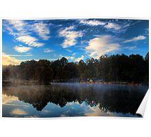 """""""Wonder-fall"""" Beavers Bend Morning Poster"""