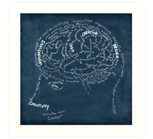 Brain design Art Print