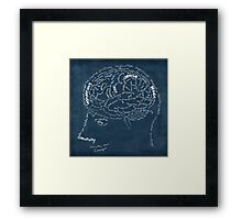 Brain design Framed Print