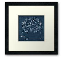 Brain design Framed Print