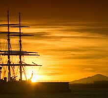 Beautiful IBIZA sail boat sunset by Hungaro