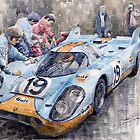 Porsche 917 K GULF Le Mans 1971 Mueller Attwood by Yuriy Shevchuk