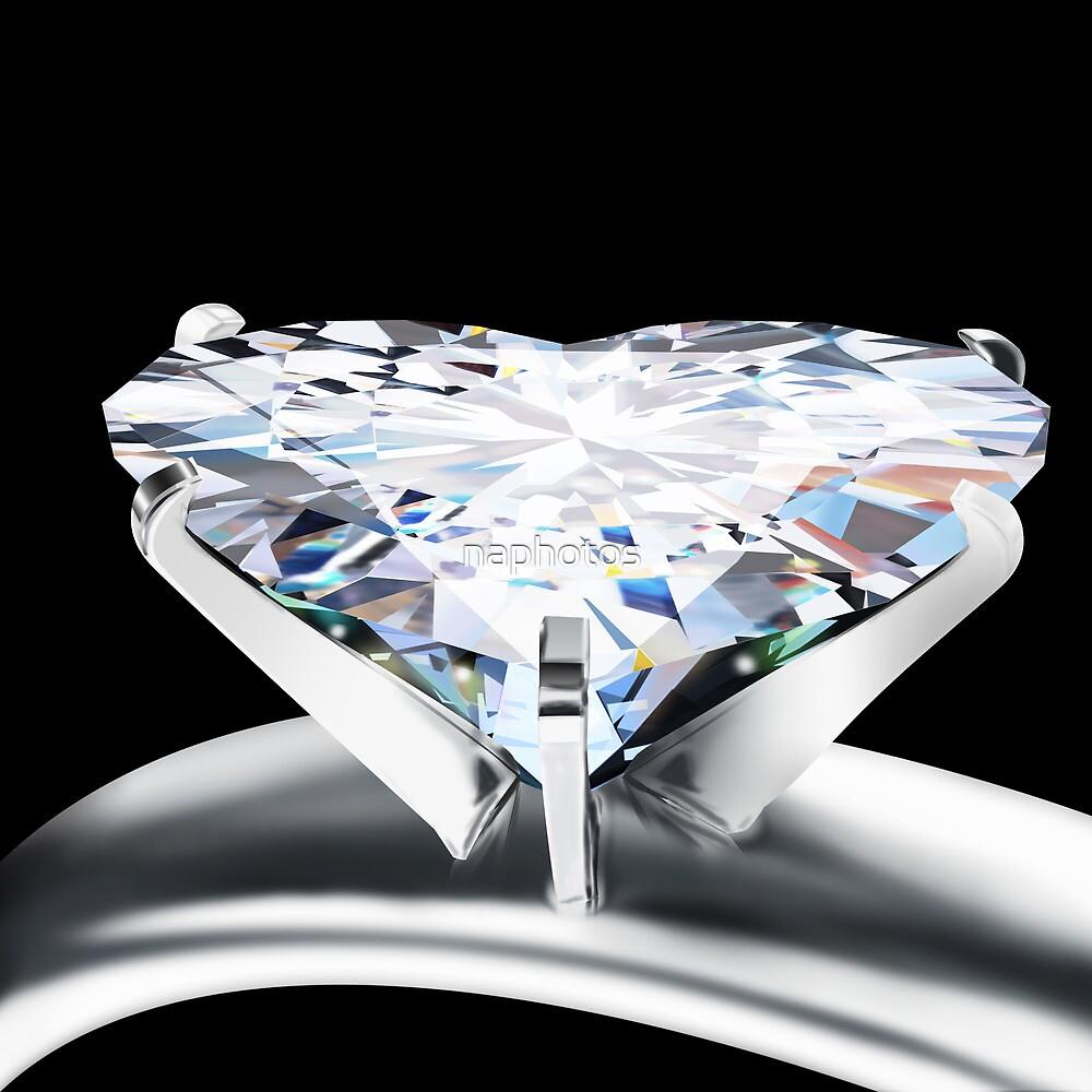 heart diamond ring by naphotos