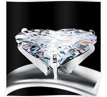 heart diamond ring Poster