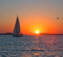 Beautiful IBIZA Sunset San Antonio Bay by Hungaro