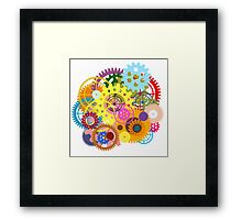colorful gears Framed Print