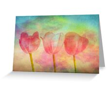 """Tulips 2 (from """"Painted flowers"""" collection) Greeting Card"""