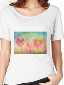 """Tulips 2 (from """"Painted flowers"""" collection) Women's Relaxed Fit T-Shirt"""