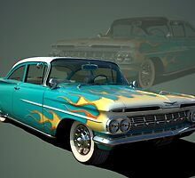 1959 Chevrolet with Flames by TeeMack