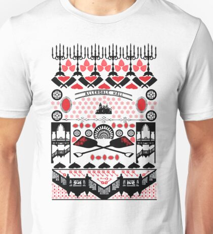 Crimson Peak Ugly Sweater Pattern Unisex T-Shirt