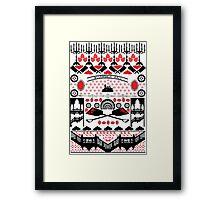 Crimson Peak Ugly Sweater Pattern Framed Print