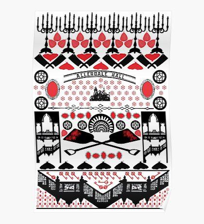 Crimson Peak Ugly Sweater Pattern Poster