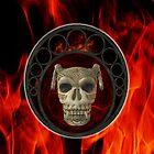 Satan's Skull .. ipad case by LoneAngel
