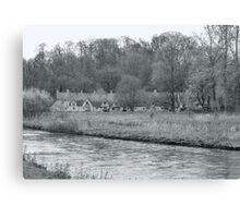Early Spring in England Black and White Canvas Print