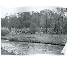 Early Spring in England Black and White Poster