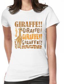Giraffe Giraffe Giraffe Womens Fitted T-Shirt