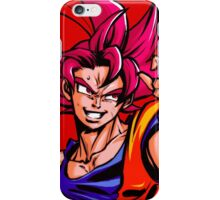 Goku Super Saiyan God - DBZ iPhone Case/Skin