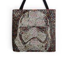 The Silver Trooper Captain - Bottle Cap Mosaic Tote Bag