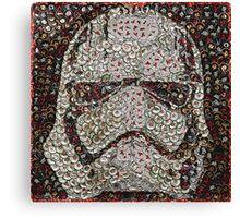 The Silver Trooper Captain - Bottle Cap Mosaic Canvas Print