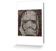 The Silver Trooper Captain - Bottle Cap Mosaic Greeting Card